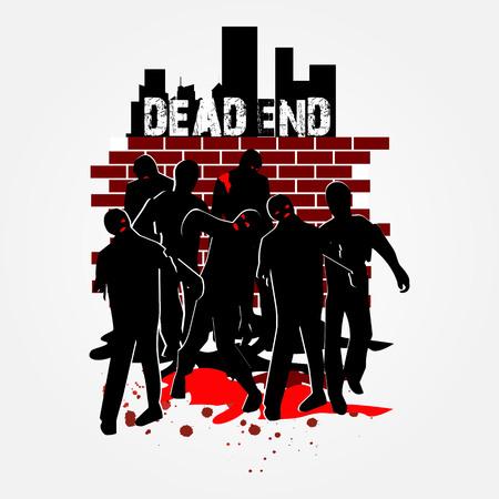 Walking Zombie In Group Banco de Imagens - 124865428