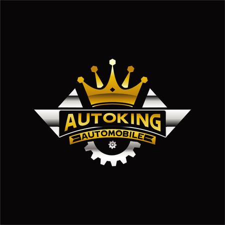 Icono de símbolo de signo de logotipo de automóvil de rey