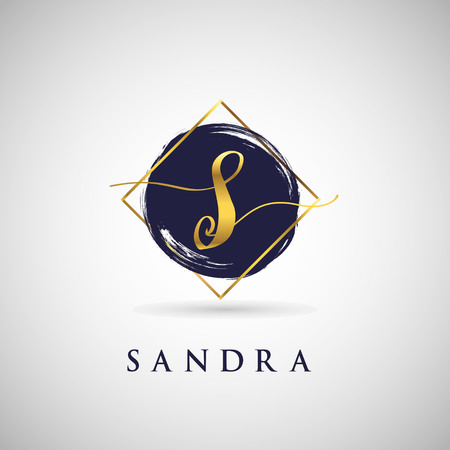 Simple Elegance Initial Letter S Gold Logo Type Sign Symbol Icon