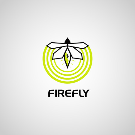 Modern Simple Firefly Logo Banque d'images - 124864130