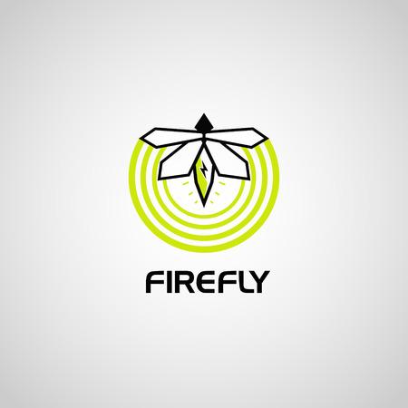 Modern Simple Firefly Logo