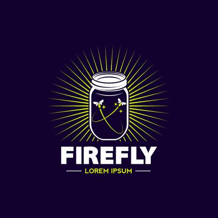 Firefly Jar Logo Sign Symbol Icon