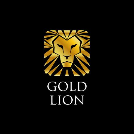 Abstract Golden Lion Logo Sign Symbol Icon
