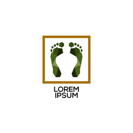 Abstract Geometry Foot Print Jungle Logo Sign Symbol Icon Çizim