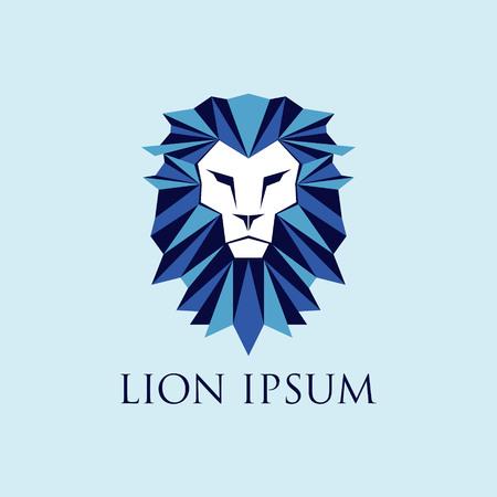 Blue Lion Logo Sign Symbol Icon Stock Illustratie