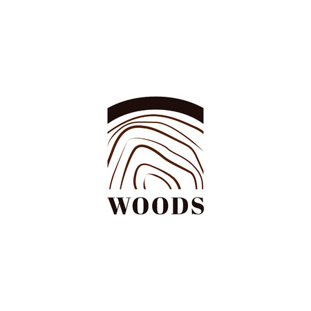 Simple Woods Logo Icon Symbol  イラスト・ベクター素材