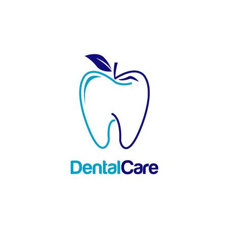 Dental Teeth With Apple Shape Logo Sign Symbol Icon