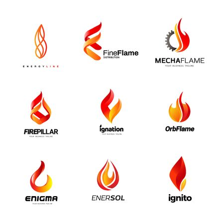 Various Fire Flame Logo Collection 矢量图像