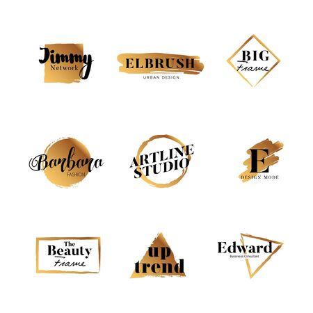 Gold Brush Logo Type Collection 矢量图像