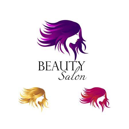 Beauty Salon Logo Set Template 矢量图像
