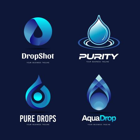 Pure Blue Drop Logo Collection