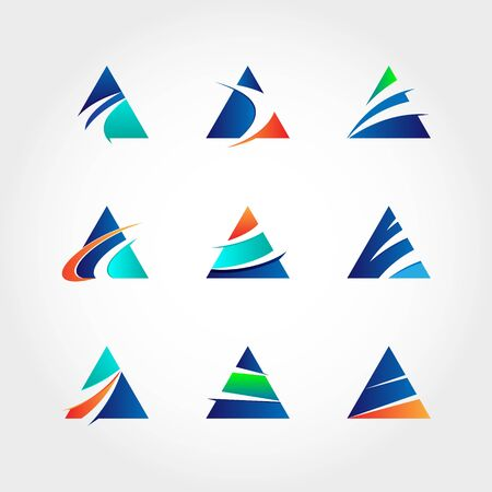 Abstract Triangle Business Logo Collection
