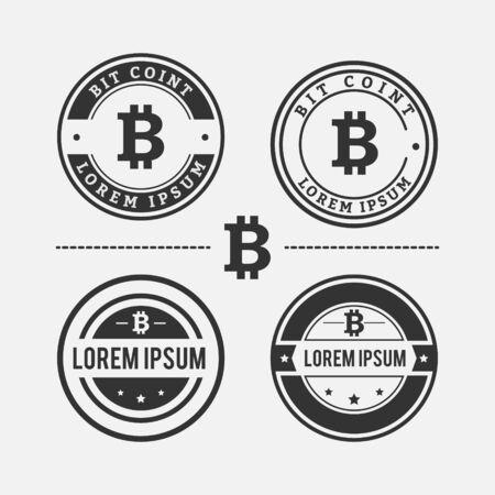 Bit Coin Logo Design Set 矢量图像