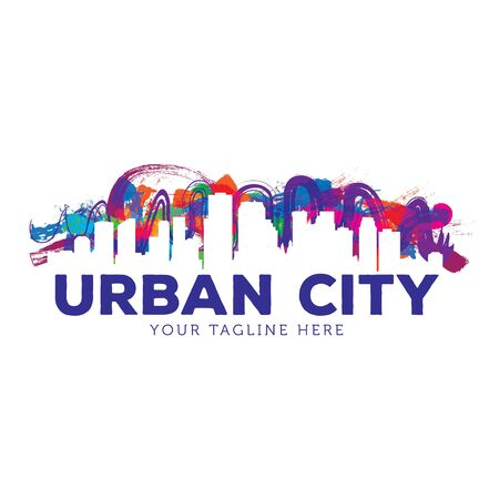 Creative Urban City Logo Template 免版税图像 - 129152844