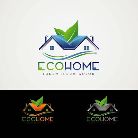 Eco Home Logo Design Symbol Icon