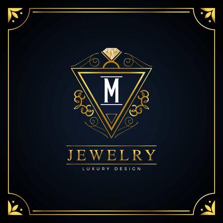 Elegant Floral Jewelry Logo Design