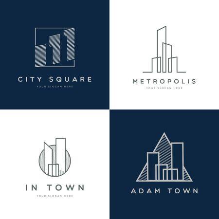 Conjunto de diseño de logotipo de propiedad abstracta