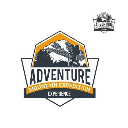 Mountain Explore Adventure Logo Template 矢量图像