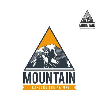 Mountain Adventure Expedition Logo 向量圖像