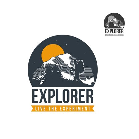 Mountain Explorer Logo 向量圖像