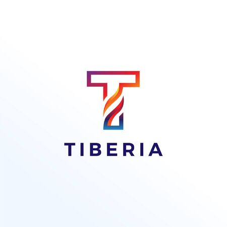 Abstract Letter T Shape Logo Template