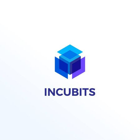 Abstract Cube Shape Logo Design Template
