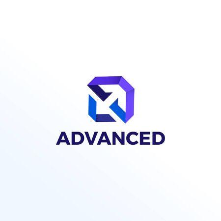 Abstract Shape Technology Logo Design Template