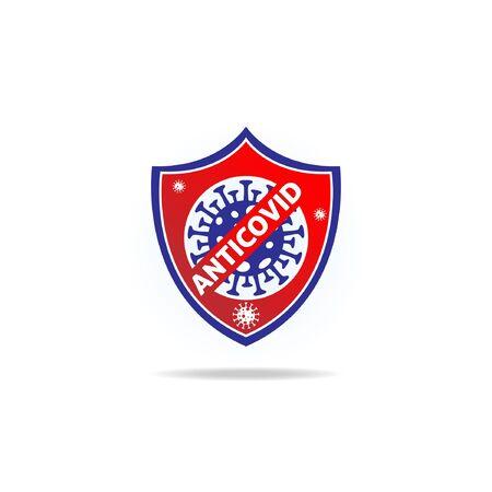 Anti Corona Virus Disease Sign Logo Symbol Illustration 矢量图像