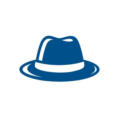 Blue Fedora Hat Illustration Vector Illustration