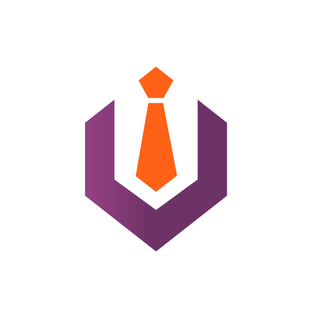 Hexagon With Tie Logo Icon