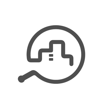 Whip Symbols Combined With City, Vector Illustration Design  イラスト・ベクター素材