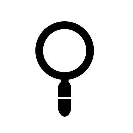 Magnifying Glass Icon, Search Inspection or Review, Logo Design