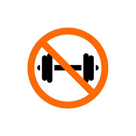 Forbidden Dumbell Sign, Prohibition Symbol, Vector Illustration Ilustração
