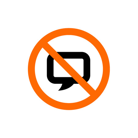 No Chat, Forbidden Talk Sign, Prohibition Symbol