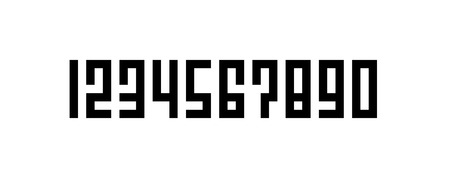 Square Style Lettering Number, Set of Pixel Art Numbers, 0, 1, 2, 3, 4, 5, 6, 7, 8, 9,