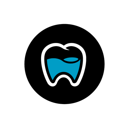 Tooth Logo Design, Dental Icon, Vector Illustration Vettoriali