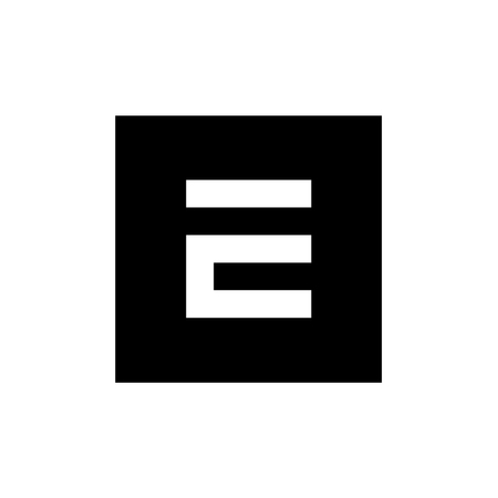 Monochrome E Letter Vector Logo, Digital E Logo, E Letter Icon Design With Square Shape Illusztráció