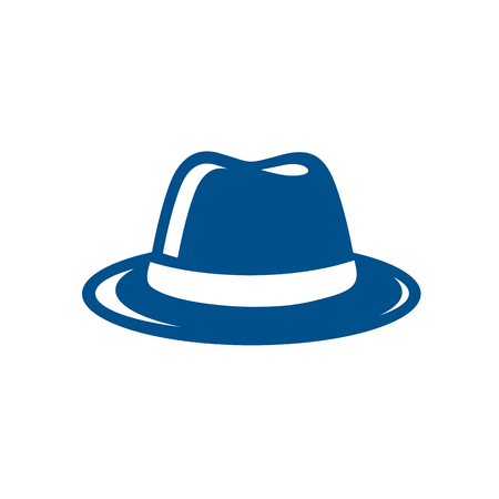 Blue Fedora Hat Illustration