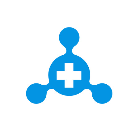 Hub Network Combined With Positive Symbol Vector Illustration