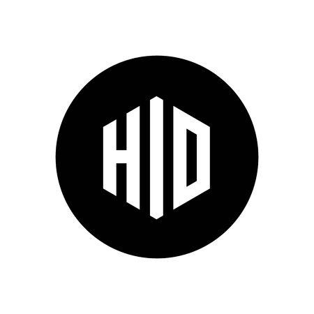 Initial Letter HIO or HID Logo, Simple Minimalist Icon