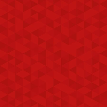Fundamento de mosaico de polígono rojo, plantilla de diseño de negocios, ilustración de estilo Low Poly - Vector