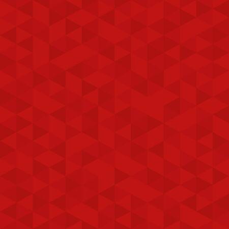 Rode veelhoek mozaïek gemaakt, zakelijke ontwerpsjabloon, laag poly stijl illustratie - Vector