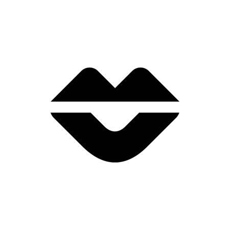 Black kiss lip icon. Symbol, logo illustration - Vector Stock Illustratie