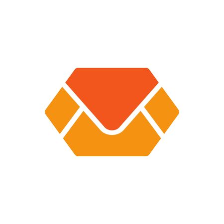 Email or envelop message logo design. Mail icon - Vector