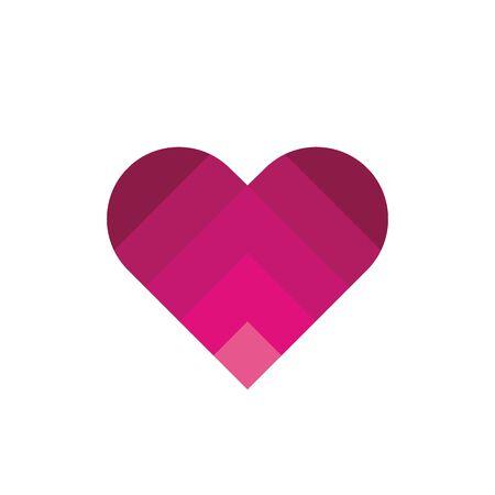 Abstract heart vector symbol, modern gradient love logo icon - Vector