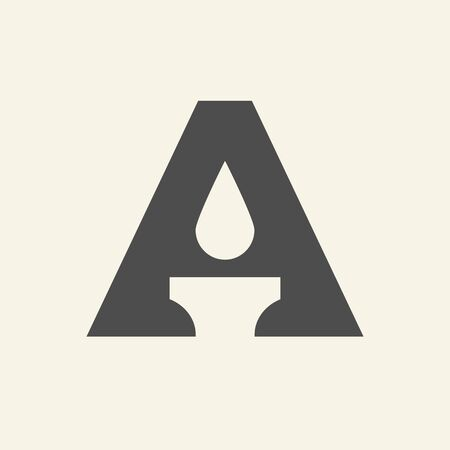 Letter A candle logo icon design template elements - Vector