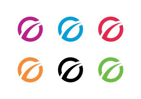 Business finance logo template, improvement or development symbol - Vector