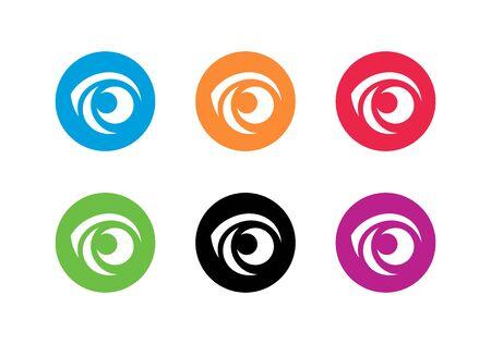 Creative vision logo set. Collection of eye ball icon design - Vector Illustration