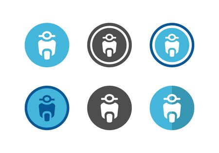 Scooter bike logo set,collection of vector motorcyle icon