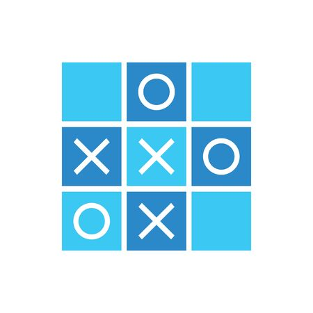 Blue Tic tac toe icon design, cool mini game illustration - Vector